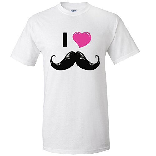 I Love Moustache Men's Funny T-shirt