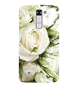 Vizagbeats White Roses Back Case Cover for LG K7