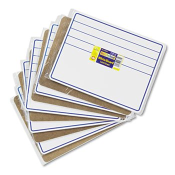 NEW - Student Dry-Erase Boards, 12 x 9, Blue/White, 10/Set - 988210