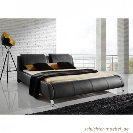 Polsterbett 'Bellini' 180x200cm Schwarz jetzt bestellen