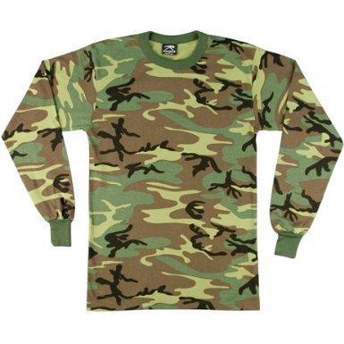 60220 Woodland Camo Long Sleeve T-Shirt 5XL