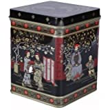 Black Jap Classic Tea Caddy Tin - 8oz - Height 11cm