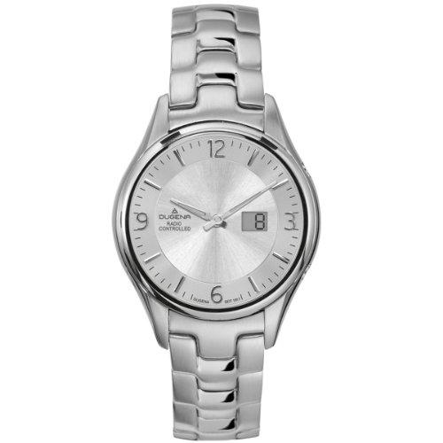 Dugena 4409183 - Reloj analógico de mujer de cuarzo con correa de acero inoxidable plateada
