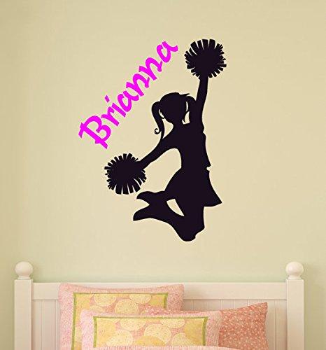 cheerleader-adesivo-da-parete-ragazze-camera-da-letto-personalizzato-room-decor-murale-da-parete-par