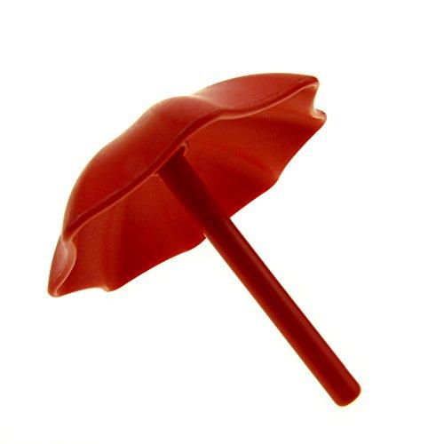 Garten Schirm Regenschirm rot Sonnenschirm Puppenhaus