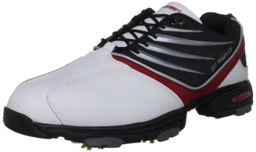 Hi-Tec Men's Cdt Power 501 White/Black/Red Golf Shoe G001783/011/01 9 UK, 43 EU, 10 US