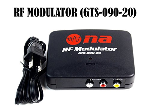 RF Modulator TV Switch Audio Video RCA Ant Input to F Type Coax Output Converter (Av Rf Modulator compare prices)