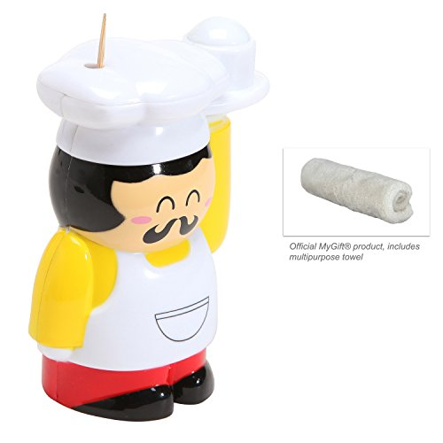 Gourmet chef design toothpick holder automatic toothpick dispenser plastic toothpick jar - Pop up toothpick dispenser ...