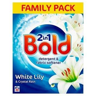 Bold Bio Washing Powder White Lilly & Crystal Rain 40 Wash2.6kg