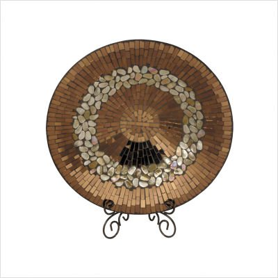 Dale Tiffany PG10157 Copper Decorative Charger Plate, 17-3/4-Inch by 3-1/4-Inch