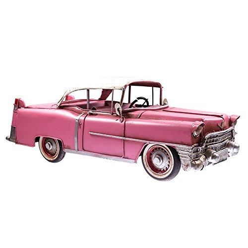 Exklusives-Modellauto-einem-Cadillac-nachempfunden-fr-Deko-in-Pink-nur-wenige-zur-Verfgung