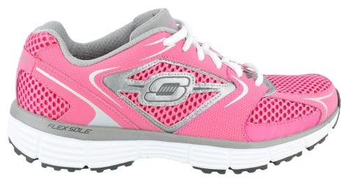 SKECHERS Women's Agility (Hot Pink/Silver Trim 8.5 M)