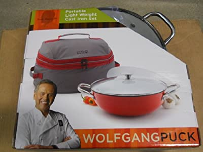 Wolfgang Puck 4.1qt 4pc Light Cast Iron Portable Gift Set