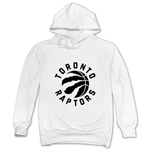 Hagow Mens Toronto Raptors Full Primary Logo Hoodie White L