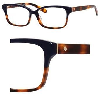 Kate Spade Tortoise Shell Eyeglass Frames : Eyeglasses Kate Spade Sharla 01Q7 Blue Tortoise Fade at ...