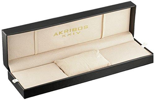 Akribos XXIV Men's AK625SS Ultimate Swiss Chronograph Stainless Steel Mesh Strap Watch