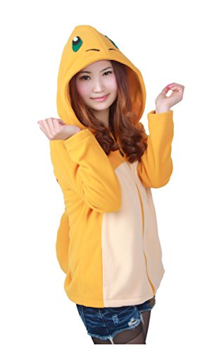 TEE Costumes Women's Animation Designed Zip up Costumes Hoodie