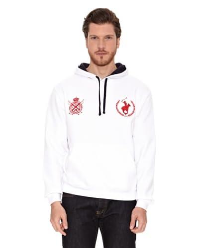 Polo Club Sudadera con Capucha Blanco