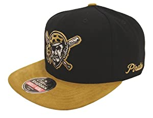 Pittsburgh Pirates SUEDE Retro AN Gold Dust Snapback Cap Hat