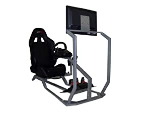 GTR Racing Simulator - GT Model with Real Racing Seat, Driving Simulator Cockpit with Gear Shifter Mount and Single Monitor Mount from GTR Simulator