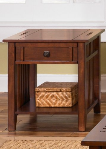 Cheap End Table by Liberty – Satin Cherry (409-OT1020) (409-OT1020)