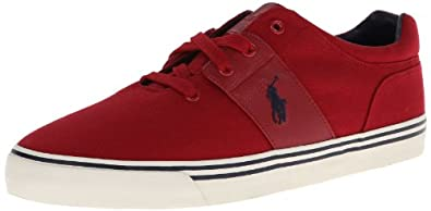 Polo Ralph Lauren Men's Hamilton Fashion Sneaker,Devon Red,8 D US