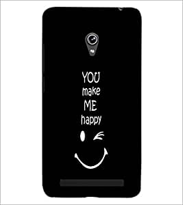 PrintDhaba Quote D-2628 Back Case Cover for ASUS ZENFONE 6 A601CG (Multi-Coloured)