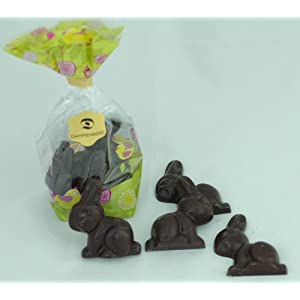 Dairy-free Bunnies (Gift bag of 5 dark chocolate rabbits)