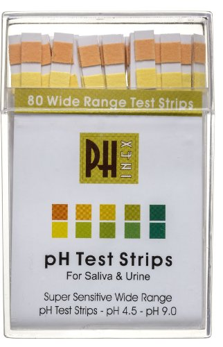 Phinex Diagnostic Ph Test Strips, 80ct -2 pack (160 strips) Results in 15 Seconds Balance Your pH today