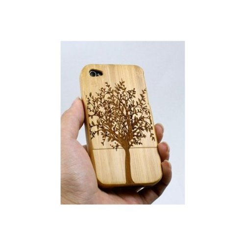 Kaufease Iphone4 4S Bamboo Protective Shell/case Wooden Protective Shell