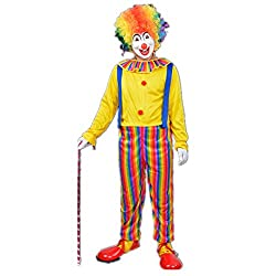 Halloween Clown Costume Fancy Dress Stage Performance Clown Clothes Circus Clothes for Adult by Ellen