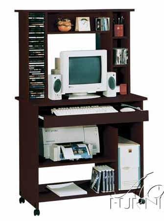 Buy Low Price Comfortable Home Office Computer Desk with Hutch in Espresso Finish (B0044G14CO)