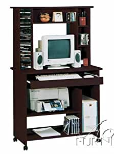 home office computer desk with hutch in