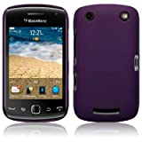 BLACKBERRY CURVE 9380 HYBRID RUBBERISED BACK COVER CASE / SHELL / SHIELD - SOLID PURPLE PART OF THE QUBITS ACCESSORIES RANGEby TERRAPIN