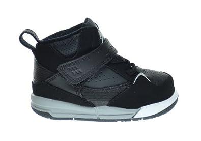 Buy Jordan Flight 45 High (TD) Baby Toddlers Basketball Shoes Black Wolf... by Jordan