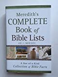 img - for Meredith's Complete Book of Bible Lists a One of a Kind Collection of Bible Facts book / textbook / text book