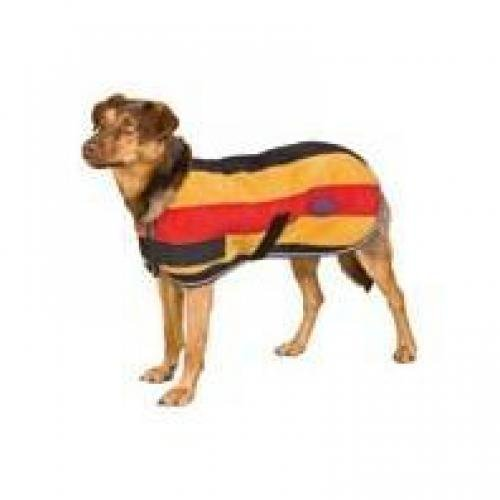 Sandown Fleece Dog Blanket Gold/Red/Black 22 Inch