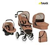 Hauck Malibu XL All In One Travel System, Toast/Black