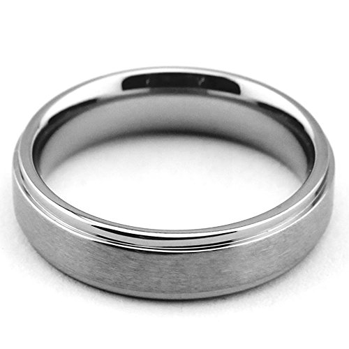 6mm matte step edge light weight titanium ring highly