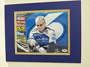 Autographed Mark Martin Photo - 8x10 Psa Coa - Autographed NASCAR Photos by Sports Memorabilia