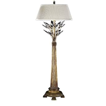 Gold crystal lamp