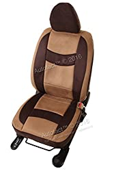 Autofact Brand Suede / Buff Velvet Car Seat Covers for Maruti Car 800 Old Model in Coco and Dark Brown Combination