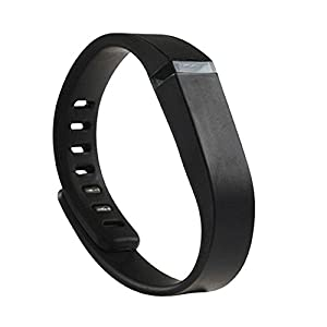 NIUTOP® Fitbit Flex Wristband Wrist Band Bracelet with Clasp Replacement Accessory for Fitbit Flex Activity and Sleep Tracker (black, Large)
