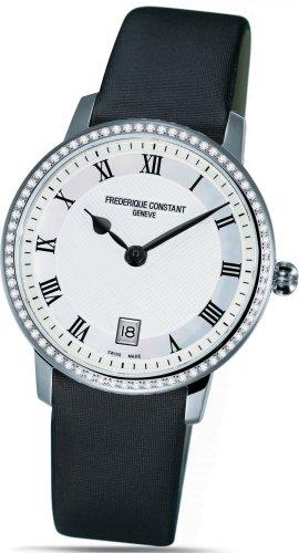 Frederique Constant Geneve Slimline FC220M4SD36 Reloj elegante para mujeres con diamantes genuinos