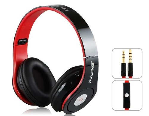 Onceall Ovleng X8 Cf 3.5 Mm On-Ear Foldable Headphones With Microphone For Iphone, Pc, Cell Phone, Mp3 Player (Black)