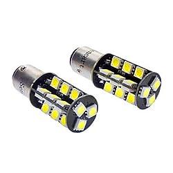 See 1157 27x5050SMD 5W 400LM 6000-6500K White Light LED Bulb for Car (DC 12V, 1-Pair) Details