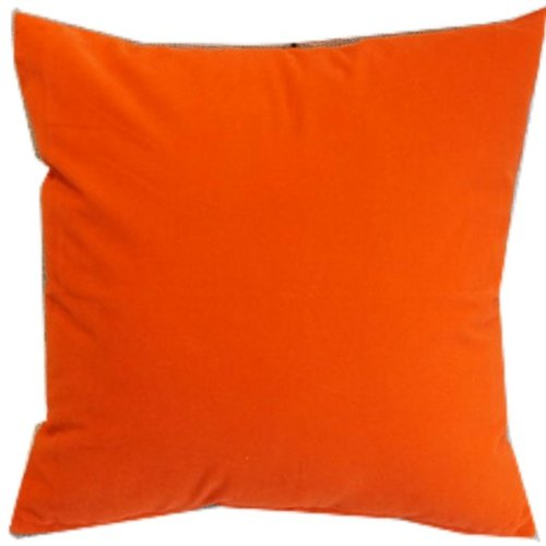 Orange Red Solid Color Flocking Velvet 100% Polyester Throw Pillow Covers Pillowcase Sham Decor Cushion Slipcovers Square 19X19 Inch front-644527