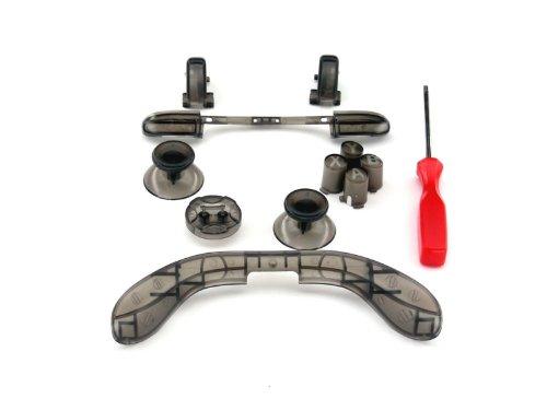 Xbox 360 Controller Custom Mod Kit - Smoke - Thumbsticks, Dpad, Rb Lb, Abxy, Trim, Triggers, T8 Security Driver