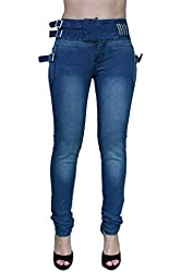Brazilian Butt Lift Extended Waistband Skinny Leg Jeans By Crocker CR-M1162BLU