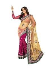 Triveni Partywear Net Embroidered Saree TSVSP4712